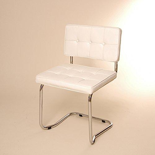 DESIGN FREISCHWINGER STUHL retro lounge küchenstuhl L36 weiß