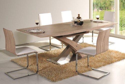 Essgruppe Raul Tisch+6 Stühle Sonoma Eiche ausziehbar auf 220cm