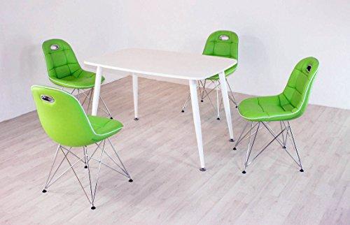 Essstisch PEP mit Stühlen Anja 5tlg. Kombi Mint weiß