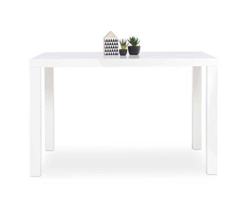 esstisch esszimmertisch k chentisch s ulentisch tisch wei hochglanz rechteckig 120 x 80. Black Bedroom Furniture Sets. Home Design Ideas