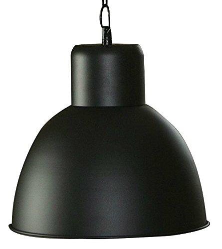 Hängelampe schwarz / matt lackiert - Elegante moderne Fabrik Industrielampe - Pendelleuchte - Hängeleuchte - Deckenlampe - Loft Lampe im Retro / Industrie Design
