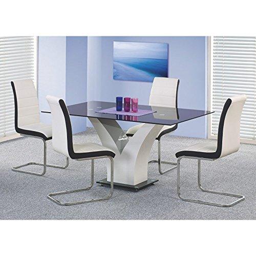 JUSThome Vesper Esszimmertisch Esstisch Küchentisch aus Glas (LxBxH): 160x90x76 cm