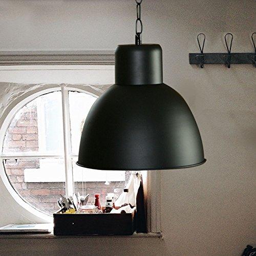K7plus® Hängelampe schwarz / matt lackiert - Elegante moderne Fabrik Industrielampe - Pendelleuchte - Hängeleuchte - Deckenlampe - Loft Lampe im Retro / Industrie Design