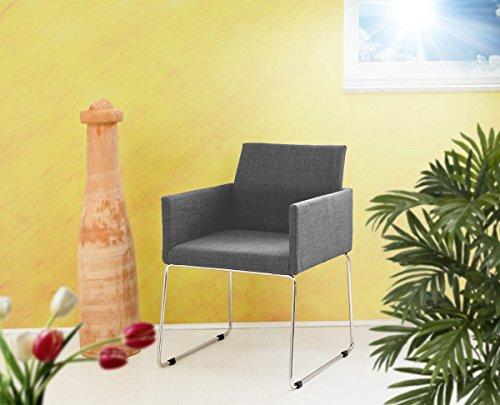 Konferenzstuhl Armlehnstuhl Stoffbezug in grau