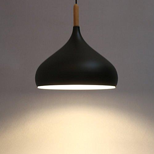 Moderne Industrie beleuchtung Metall Schatten Loft Pendelleuchte Retro-Deckenleuchte Vintage-Lampenschirme Retro Lampe Shade Loft Coffee Bar Küchenhänge pendelleuchte (Matt Schwarz)