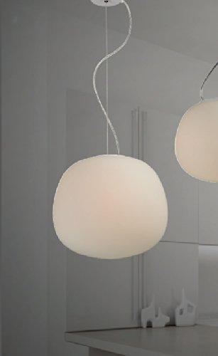Opalglas Kugel Leuchte Deckenlampe Deckenleuchte Pendelleuchte Hängeleuchte Milchglas Moderne Form Weiß von Design61
