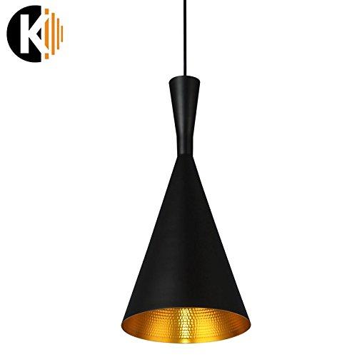 """PREMIUM METALL GOLD DESIGN """"HANG-17a"""" Deckenlampe Pendelleuchte Pendellampe in schwarz gold, 1x E27 maximal 60 W ohne Leuchmittel"""
