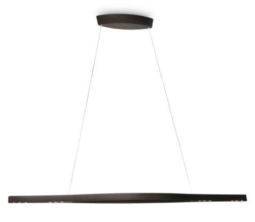 Philips InStyle Split LED Pendelleuchte, 4-flammig, schwarz 373713016