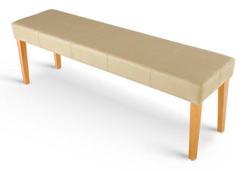 sam esszimmer sitzbank enzio vii in creme mit buche farbigen beinen aus pinien holz bank in. Black Bedroom Furniture Sets. Home Design Ideas