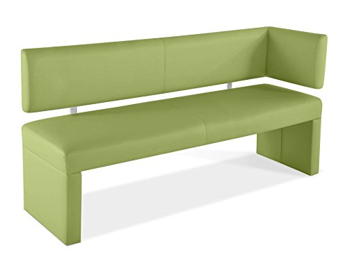 sam ottomane sitzbank eckbank lasesto in lemon green 130 cm breite gepolsterte bank mit. Black Bedroom Furniture Sets. Home Design Ideas