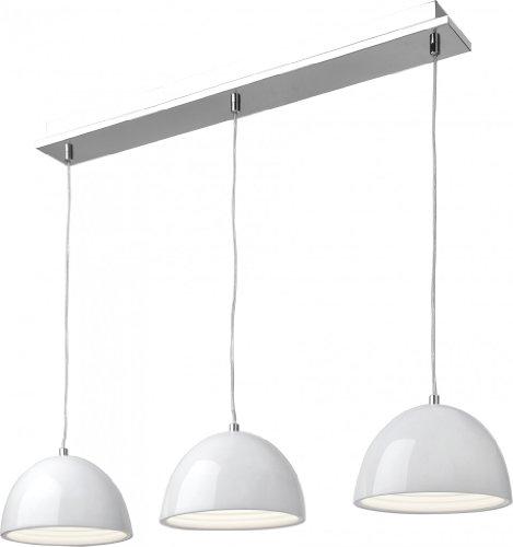Sompex LED Pendelleuchte Rondo, Metallisch/Weiß, Metall, 78801
