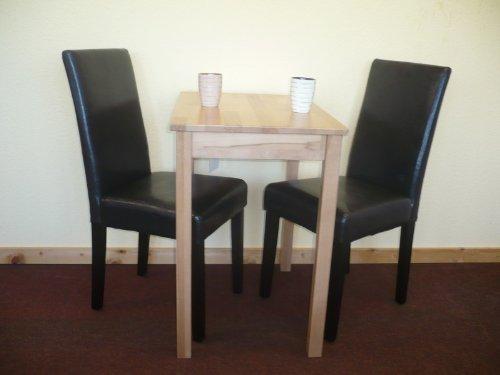 Tischgruppe Esszimmergruppe Sitzgruppe 3-tlg. Tisch 50x70 cm Stuhl Braun Braun