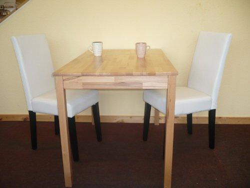 Tischgruppe Esszimmergruppe Sitzgruppe 3-tlg. Tisch 50x70 cm Stuhl Creme braun