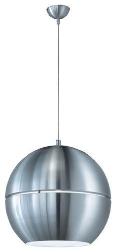 Trio-Leuchten 300204005 Pendelleuchte in Aluminium, ø 40 cm, innen weiß