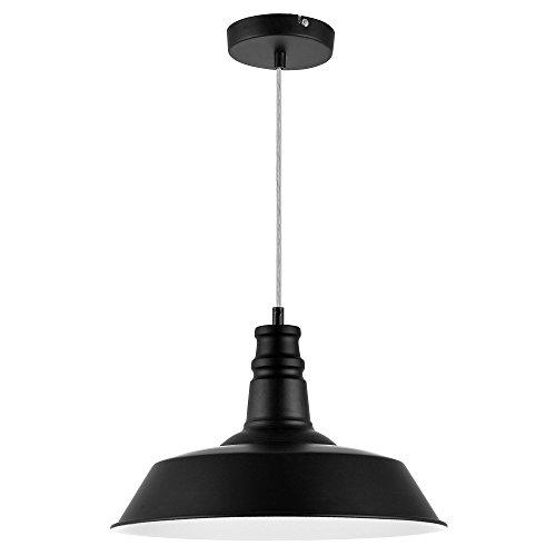[lux.pro] LED Pendelleuchte (Edelstahl) Deckenleuchte (1 x E27 Sockel)(130 cm - Ø 36 cm) Hängeleuchte / Vintage / Retro Design