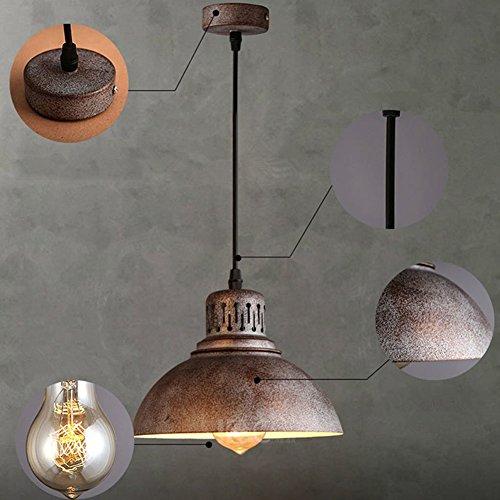 yuewei®Retro Vintage Deckenlampen Pendelleuchte Hängeleuchte Lampe Leuchte Kupfer LOFT