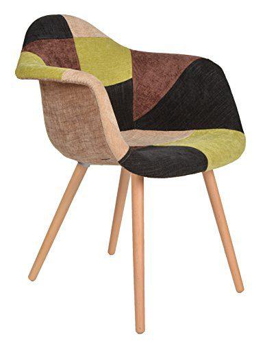 1 x design klassiker patchwork sessel retro 50er jahre barstuhl wohnzimmer b ro k chen stuhl. Black Bedroom Furniture Sets. Home Design Ideas