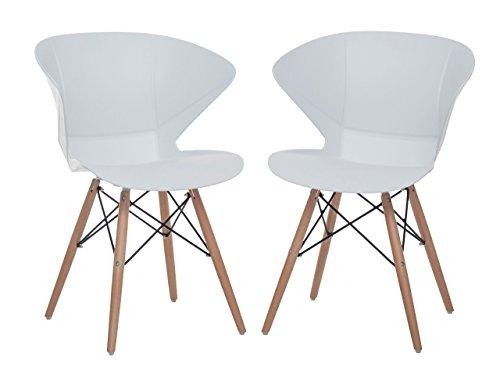 2er-Set Stühle Ray, Retro-Stühle, 2 Designer-Stühle, 2er Retro-Set