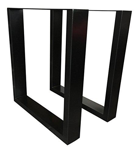 Design Tischgestell Stahl schwarz gepulvert TUG 305 Tischuntergestell Tischbein 1 Stück Tischkufe 63,5 x 70 Neu und OVP