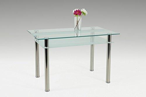 Dreams4home glastisch 39 melbourne iii 39 esszimmertisch for Beistelltisch 75 cm