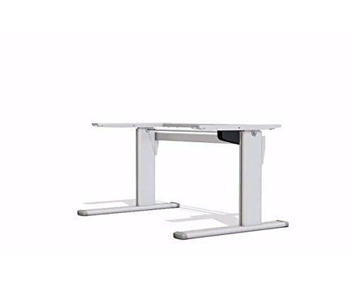 Ergobasis Ergo Tischgestell Version 1, elektrisches Gestell, silber