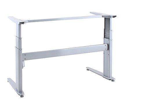 Ergobasis elektrisches Tischgestell Inno-Serie 4 Stuart MEMORY, Breite 133 cm, silber