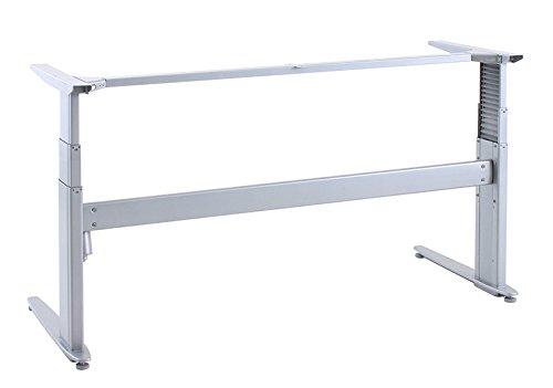 Ergobasis elektrisches Tischgestell Inno-Serie 4 Stuart MEMORY, Breite 152 cm, silber