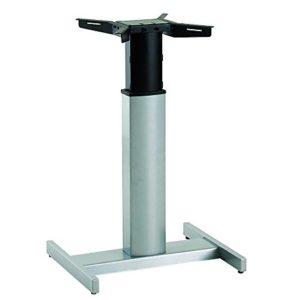 Ergobasis elektrisches Tischgestell Inno-Serie 9 Center inkl. Rollen und Akku, silber