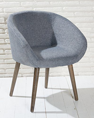 Polsterstuhl grau mit holzbeinen esszimmerstuhl for Sessel modern
