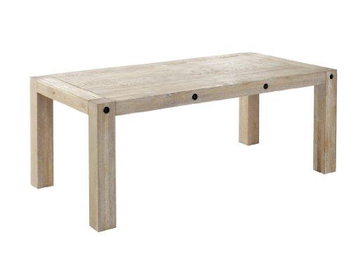 Presto mobilia 11715 Esstisch Massivholztisch Neu Designer Tisch Calita 97 200x100x76 cm massiv Eiche gekälkt