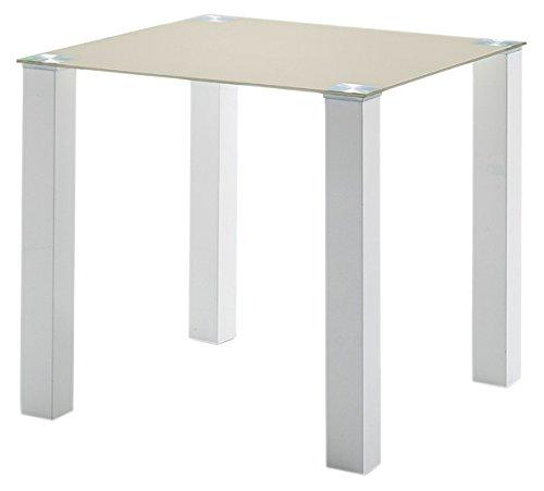 robas lund hanna tisch gestell metall hochglanzwei lackiert beine 80 x 80 mm platte. Black Bedroom Furniture Sets. Home Design Ideas