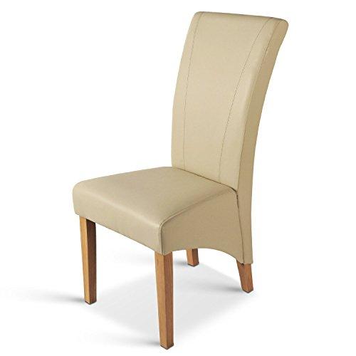 SAM® Esszimmer Polsterstuhl TARANO mit SAMOLUX®-Bezug in creme Buche, Stuhl mit hoher Rückenlehne und edler Ziernaht, hoher Sitzkomfort dank Polsterung