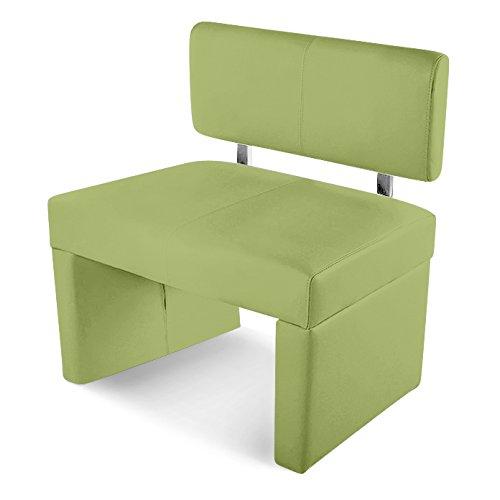 SAM® Esszimmer Sitzbank Sesto, 80 cm, in lemon green, Sitzbank mit Rückenlehne aus Samolux®-Bezug, angenehmer Sitzkomfort, frei im Raum aufstellbare Bank