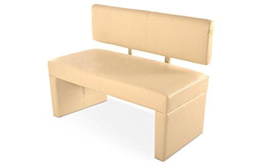 SAM® Sitzbank Sandra 125 cm in creme Bank komplett bezogen angenehme Polsterung pflegeleicht teilzerlegt Auslieferung durch Paketdienst