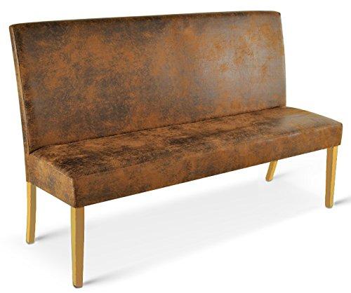 SAM® Sitzbank Sergio in Wildlederoptik Beine in Bucheoptik 140 cm