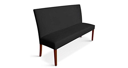 SAM® Sitzbank Stefano III schwarz mit kolonialfarbenen Beinen 180 cm Pinienholz angenehme Polsterung pflegeleicht teilzerlegt Auslieferung durch Spedition