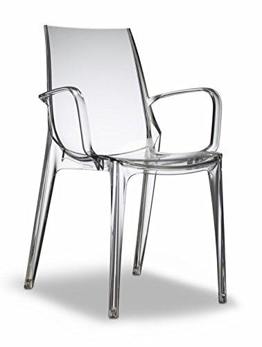 scab design designer stuhl mit armlehnen vanity transparent esszimmerst. Black Bedroom Furniture Sets. Home Design Ideas