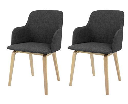 tenzo 3370 215 tequila 2 er set designer st hle mary 81 x 51 x 55 cm anthrazit eiche. Black Bedroom Furniture Sets. Home Design Ideas