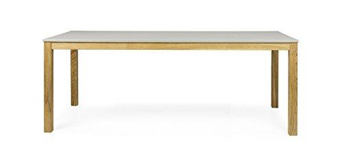 Tenzo 3583-083 Fresh Designer Esstisch Holz, warm grey / eiche, 90 x 200 x 75 cm