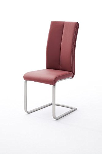 4 Stühle, Schwinger, Schwingstuhl, Schwinger, PAULO 2, Freischwinger, Rot (Bordeaux)