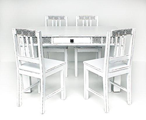antikisierter tisch mit sthlen eva design 005 0 esszimmerst. Black Bedroom Furniture Sets. Home Design Ideas
