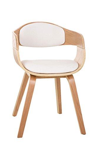 clp moderner besucher stuhl kingston mit armlehne gut gepolsterter sitzfl che holzgestell wei. Black Bedroom Furniture Sets. Home Design Ideas