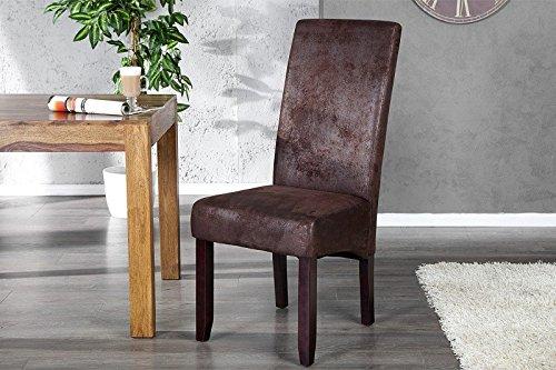 Dunord design esszimmerstuhl stuhl caracas 4er set dunkel for Dunord design stuhl verona