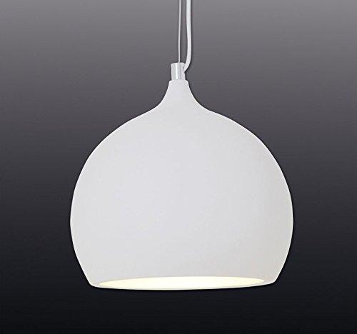 dunord design h ngelampe h ngeleuchte retro ball weiss led leuchtmittel incl esszimmerst. Black Bedroom Furniture Sets. Home Design Ideas