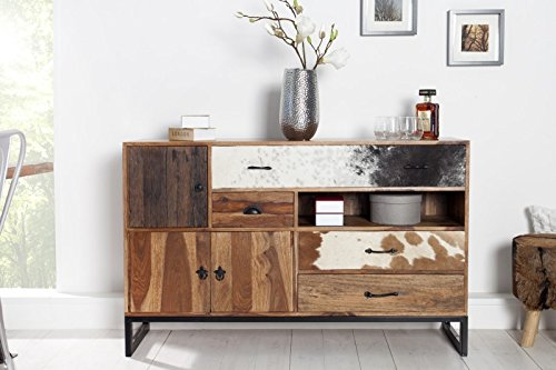 dunord design sideboard kommode texas 140cm palisander sheesham massivholz und felloptik 0. Black Bedroom Furniture Sets. Home Design Ideas