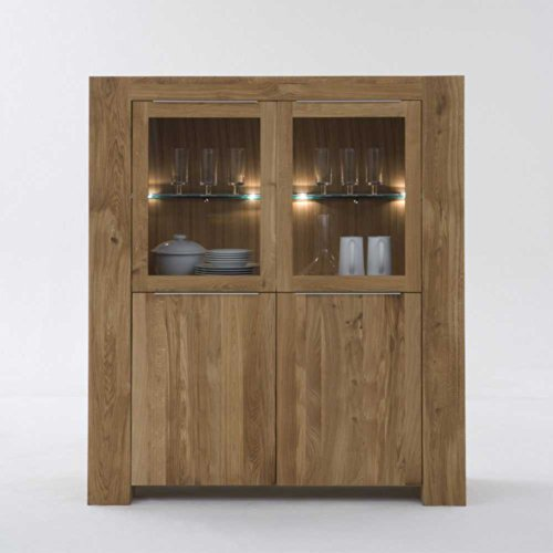 Esszimmer Highboard Beldar aus Wildeiche Massivholz Pharao24