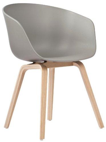 hay stuhl about a chair aac 22 grau grey beine eiche schale polypropylen esszimmerstuhl. Black Bedroom Furniture Sets. Home Design Ideas