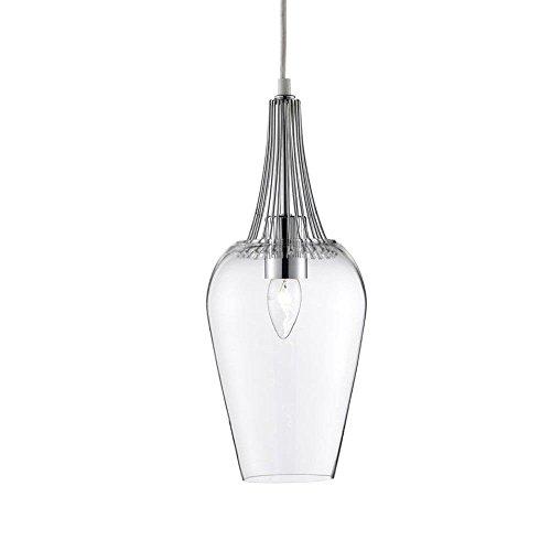 led pendelleuchte vintage whisk 16cm chrom mit klarem glas 0 esszimmerst. Black Bedroom Furniture Sets. Home Design Ideas