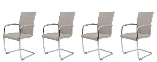schwingstuhl esszimmerstuhl k chenstuhl freischwingerstuhl cappuccino grau beige. Black Bedroom Furniture Sets. Home Design Ideas