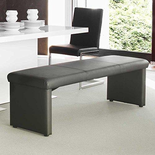 sitzbank esszimmerbank leder schwarz charly breite 180 cm. Black Bedroom Furniture Sets. Home Design Ideas